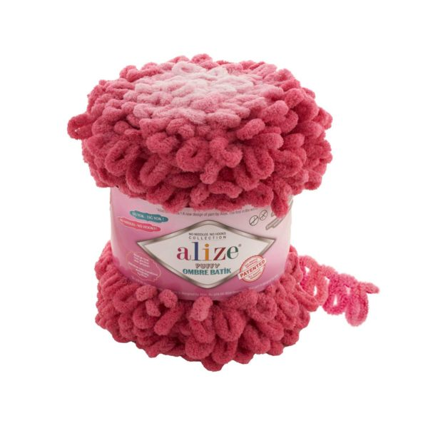 Puffy Ombre Batik Alize - розовый 7418