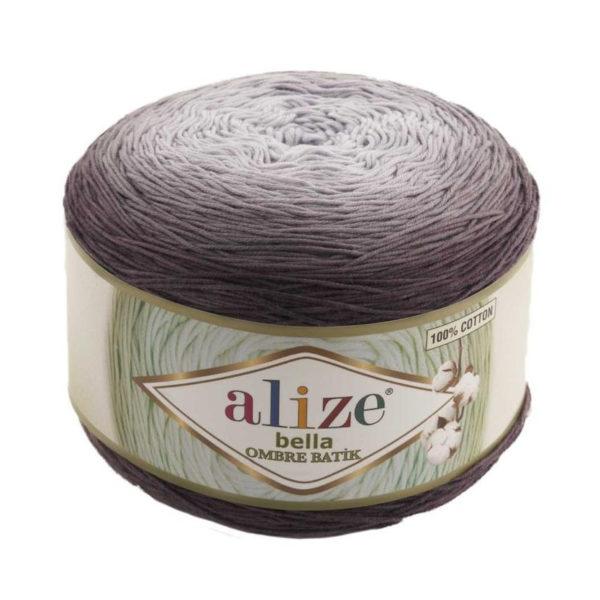 Bella Ombre Batik Alize - бело-серый 7411