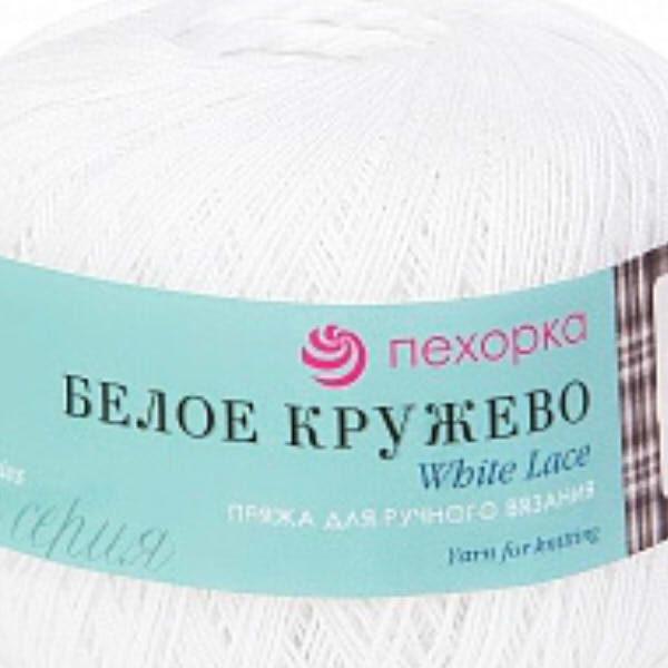 Белое кружево Пехорка - белый 01