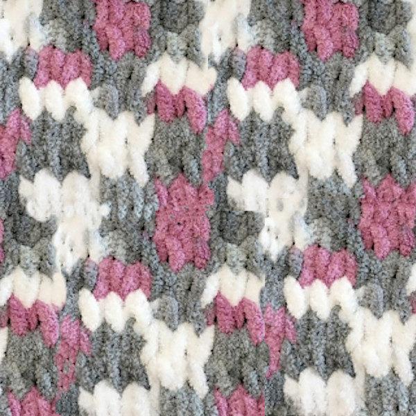Puffy Color Alize - бел/серый/фиолетовый 6070