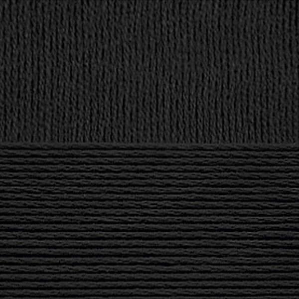 Хлопок натуральный Пехорка - черный 02