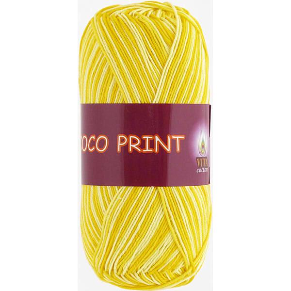 Coco print VITA Cotton - бело-желтый 4677
