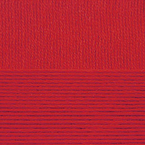 Хлопок натуральный Пехорка - красный 06