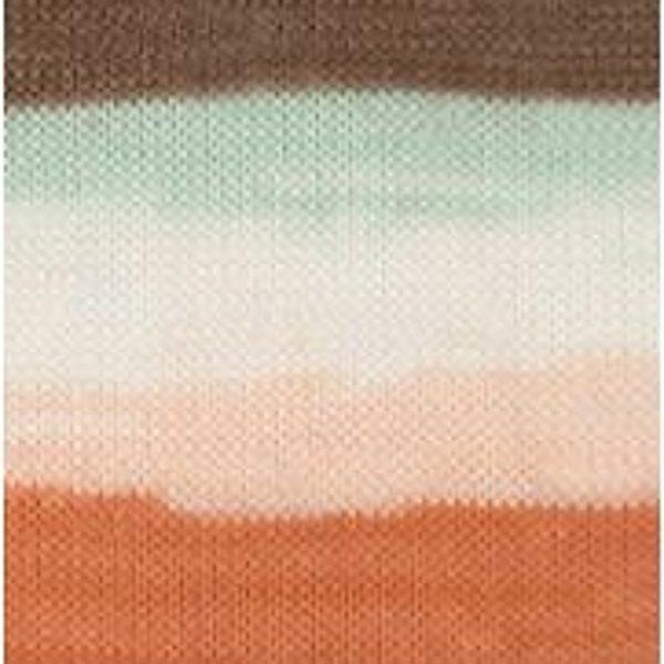 Bella batik Alize - бел/мята/корич/оранжевый 7103