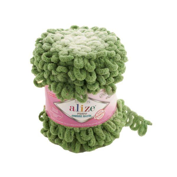 Puffy Ombre Batik Alize - зеленый 7423