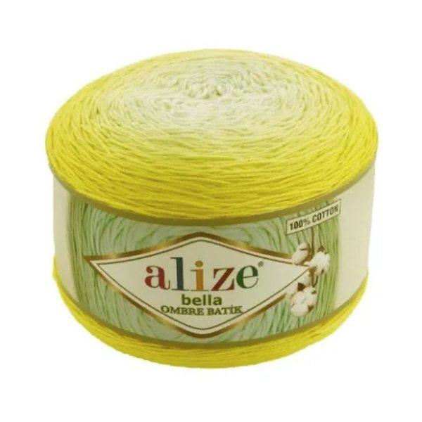 Bella Ombre Batik Alize - бело-желтый 7414