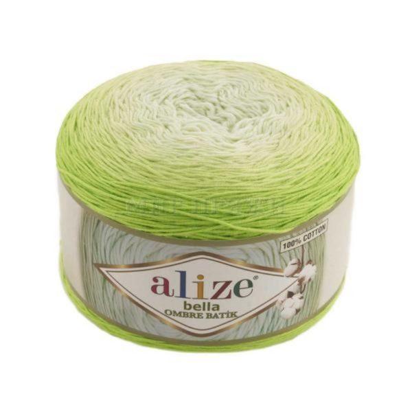 Bella Ombre Batik Alize - бел/салатовый 7412