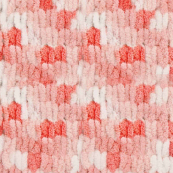Puffy Color Alize - бел/коралл/красный 5922