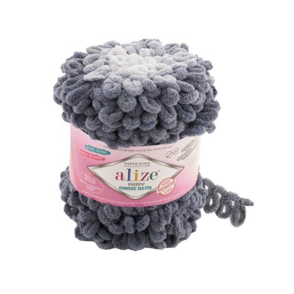 Puffy Ombre Batik Alize - серый 7421