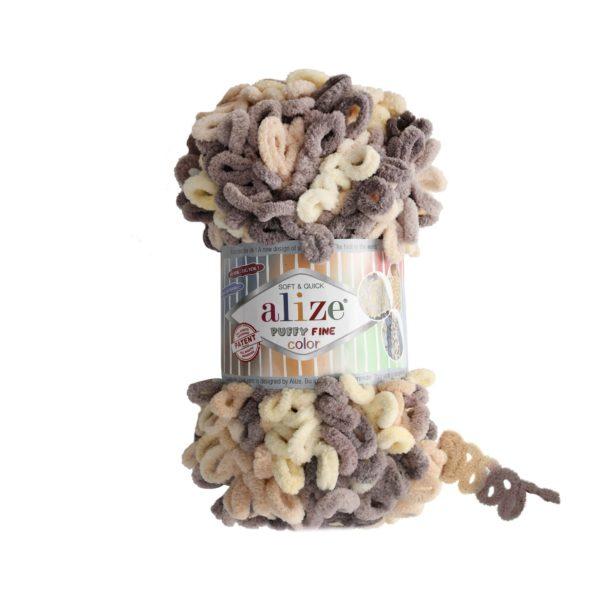 Puffy Fine Color Alize - крем/беж/коричневый 6034