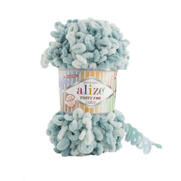 Puffy Fine Color Alize - бирюзовый меланж 6064