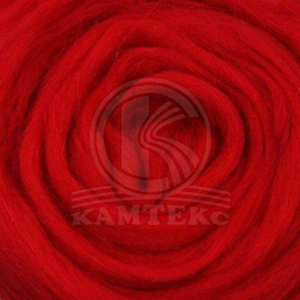 Шерсть для валяния Камтекс - красный 046