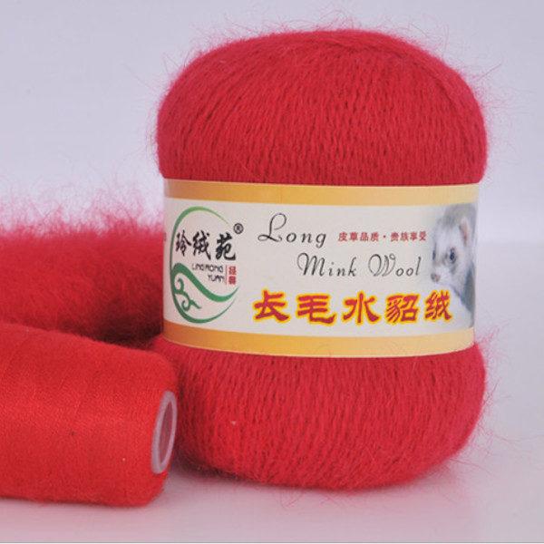 Норка длинноворсная LMY(норка) - красный 16