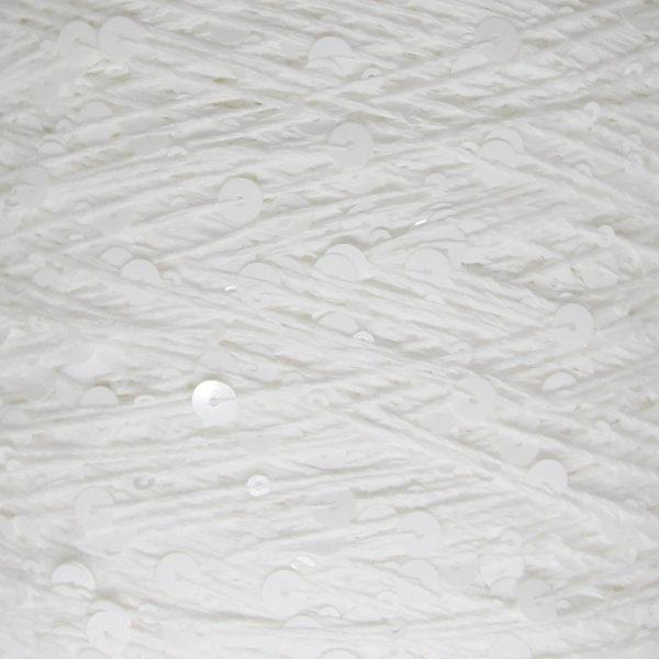 Королевские пайетки Пряжа Китай - белый AJ015