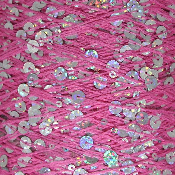 Королевские пайетки Пряжа Китай - ярк.розовый AJ113