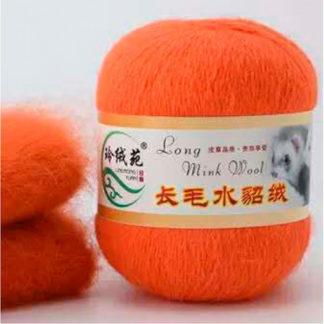 Норка длинноворсная LMY(норка) - апельсин 42