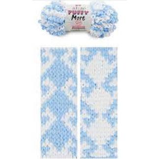 Puffy More Alize - белый/голубой 6266