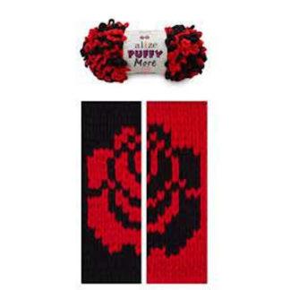 Puffy More Alize - черный/красный 6273
