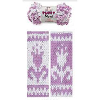 Puffy More Alize - белый/сиреневый 6283