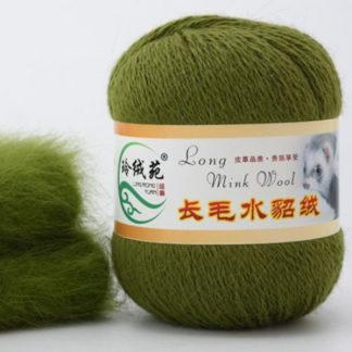 Норка длинноворсная LMY(норка) - оливковый 37