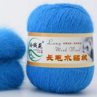 Норка длинноворсная LMY(норка) - ярк.голубой 40