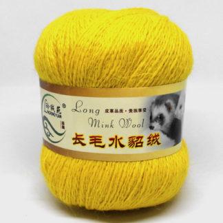 Норка длинноворсная LMY(норка) - желтый 77