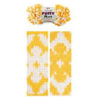 Puffy More Alize - белый/желтый 6282