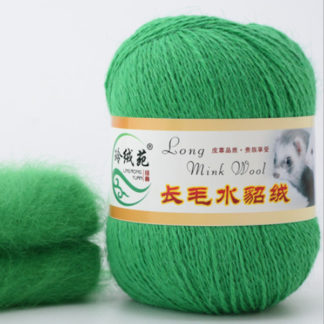 Норка длинноворсная LMY(норка) - зеленая трава 38