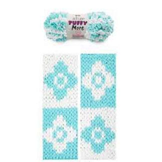 Puffy More Alize - белый/бирюзовый 6269