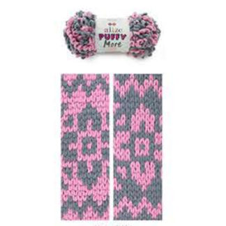 Puffy More Alize - серый/розовый 6281