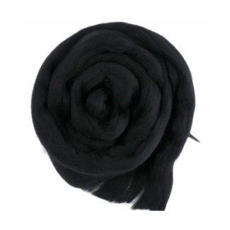 Шерсть для валяния Троицк - черный 0140