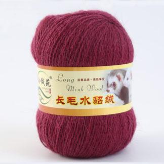 Норка длинноворсная LMY(норка) - ягодный 49