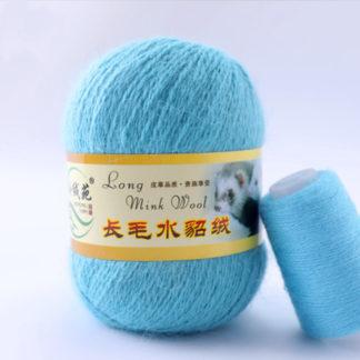 Норка длинноворсная LMY(норка) - голубой 59